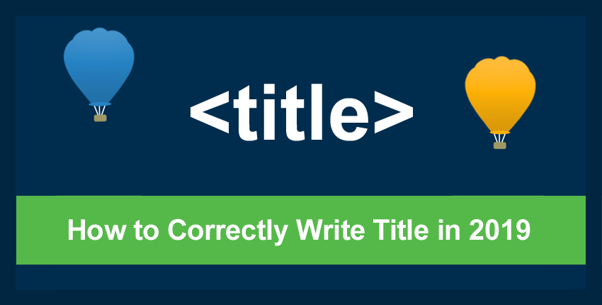 How to correctly write title