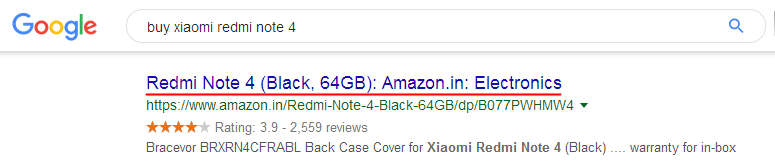 Title displaying in search results