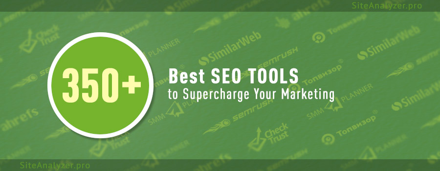 381 tools and web services for SEO Specialist